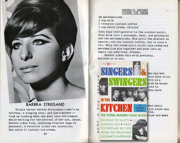 Streisand recipe in celebrity cookbook