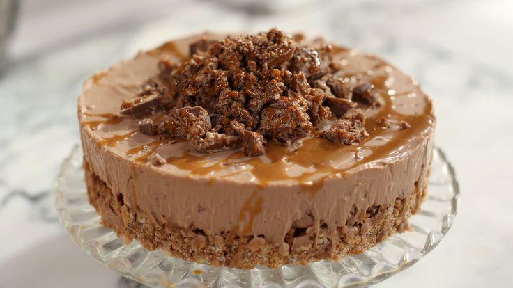 Toffee Crisp Cheesecake No Bake!