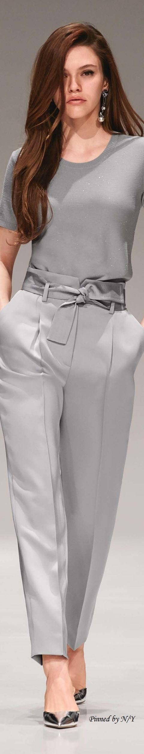 Yes, grey, but far from boring! FOLLOW ME at www.thevintagelig... Escada Resort 2017 Clothing, Shoes & Jewelry - Women - women's belts - http://amzn.to/2kwF6LI