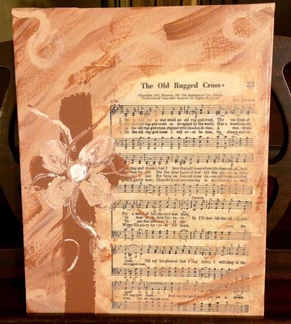Canvas, Painting, Acrylic, Mixed Media, Music, Hymn, The