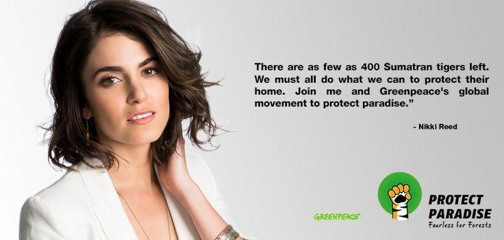#ProtectParadise, Nikki Reed, ニッキー・リード