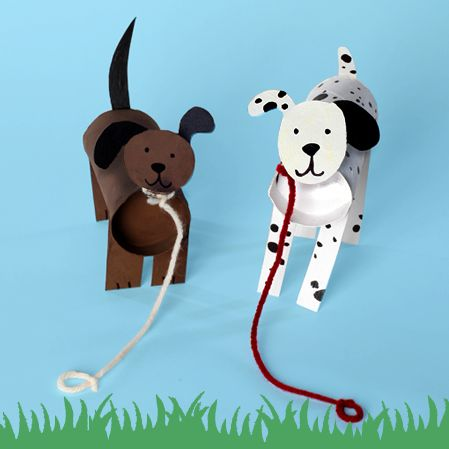 Toilet Paper Tube Dogs Link To Printable Instructions