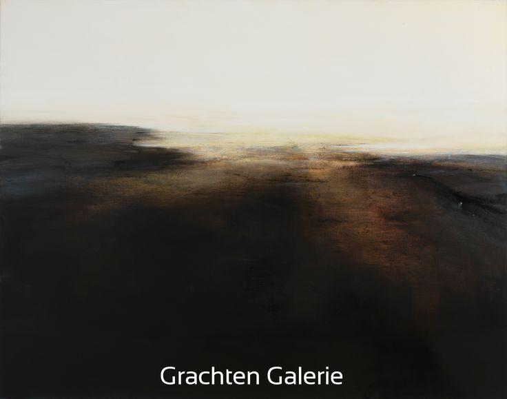 Z.t. 2   Andre Hoppzak   Schilderij   Painting   Kunst   Art   Bruin   Brown   Wit   White   Grijs   Grey   Grachten Galerie
