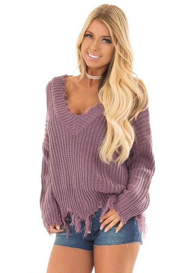 36b8c59cf58 Black and White Striped Long Sleeve Top with Front Tie. Lime Lush Boutique  - Lilac ...
