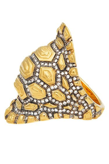 """My Favorite Things: Eugénie Niarchos - Jewelry: """"My Madagascar ring, inspired by a turtle's shell."""""""