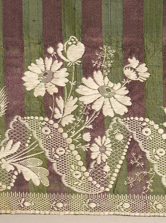 Dress (Round Gown) hem detail ca. 1795