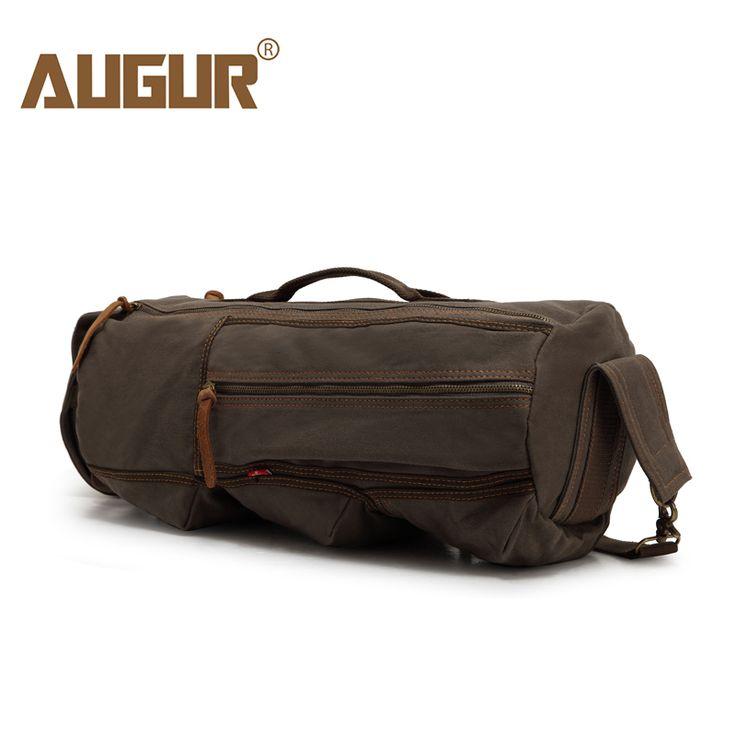 AUGUR Men's Casual Travel Luggage Bag Army Military Canvas Backpacks Duffle Shoulder Bags bolsa de viagem 9120#
