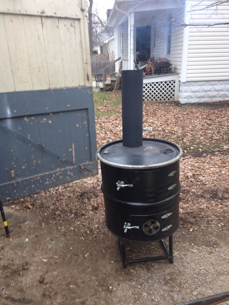 Potbelly Woodstove Made From A 55 Gallon Drum Ice Shanty