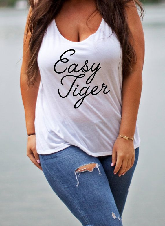 Easy Tiger Tank graphic tank Plus Size Graphic by MossandCrown. I need this. I NEED this. East Kingdom baby, I bleed blue tyger blood.
