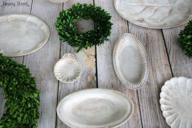 Home decor doesn't have to be expensive! You can find cheap plates and platters at any thrift store and easily transform them into unique decor. http://canarystreetcrafts.com/
