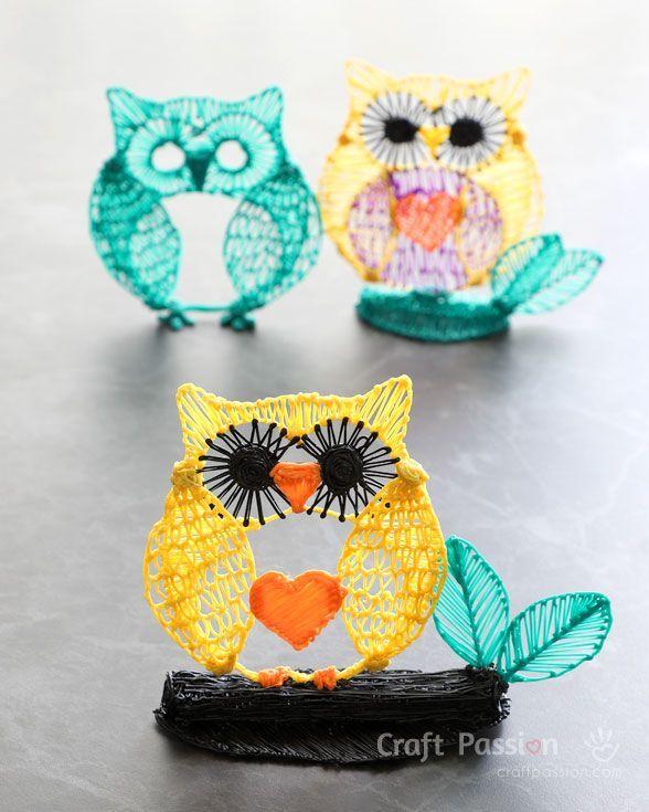 3d Pen Owl Drawing 3d Printer Pen Ideas Of 3d Printer Pen
