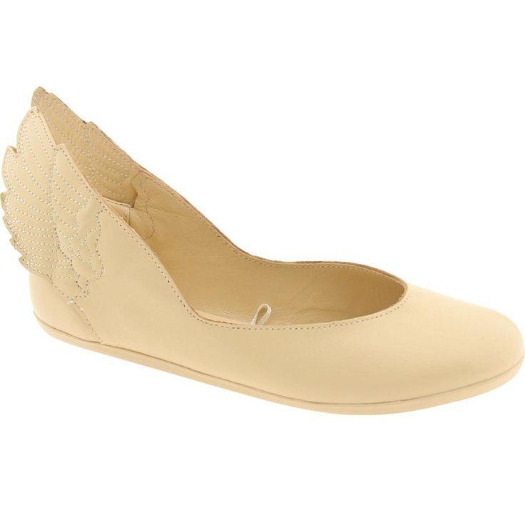 Adidas Women ObyO JS Wings Ballerinas - Jeremy Scott (dune / runninwhite / dune) Q23666 - $119.99