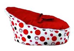 Red Bubbles Bean Bag Sofa