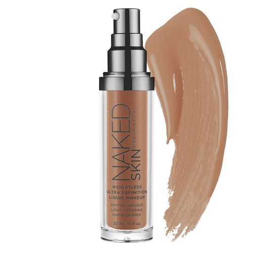 Naked Skin Weightless Ultra Definition Liquid Makeup - Fond de Teint Liquide de Urban Decay BEN OUI Y EN A!  Cyclopentasiloxane, Dimethicone, Dimethicone/PEG-10/15 Dimethicone/Polyglycerin-3  Dimethicone, Hexyl Laurate,  Phenoxyethanol. LA TOTALE