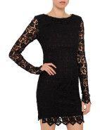 Nicholas Peony Lacy Long Sleeve Dress $297.00 #davidjones #fashion #style #shop #sale #designer #lace #black #mini #designer #Nicholas