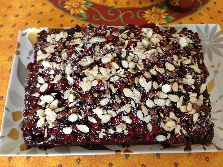 CHOCOLATE CHERRY and NUTS RUM CAKE | Desserts | Pinterest