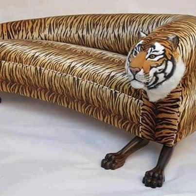 Crazy Tiger Couch Thats Odd Pinterest Sofa Furniture And Design