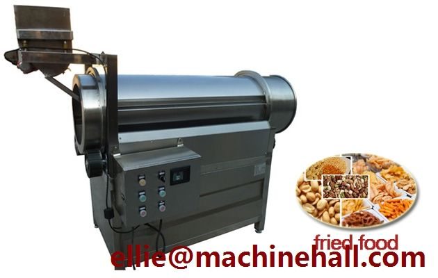 Chip Seasoning Tumbler For Sale http://www.fried-machinery.com/products/seasoning/chip-seasoning.html