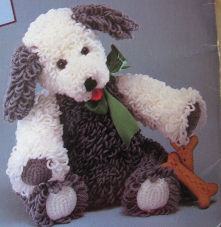 Sheep Dog Crochet Toy Pattern PDF Instant Download Loop Stitch by TassieVintage on Etsy