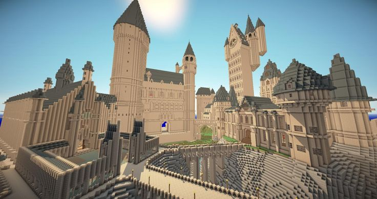 Harry Potter Hogwarts in Minecraft  (not the whole things... the bridges and courtyard seem fun to build)