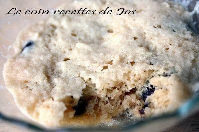 Le coin recettes de Jos: BISCUIT AUX PÉPITES DE CHOCOLAT DANS UNE TASSE