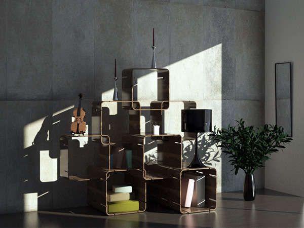 Modular Square Shelving : Pietro Russomanno
