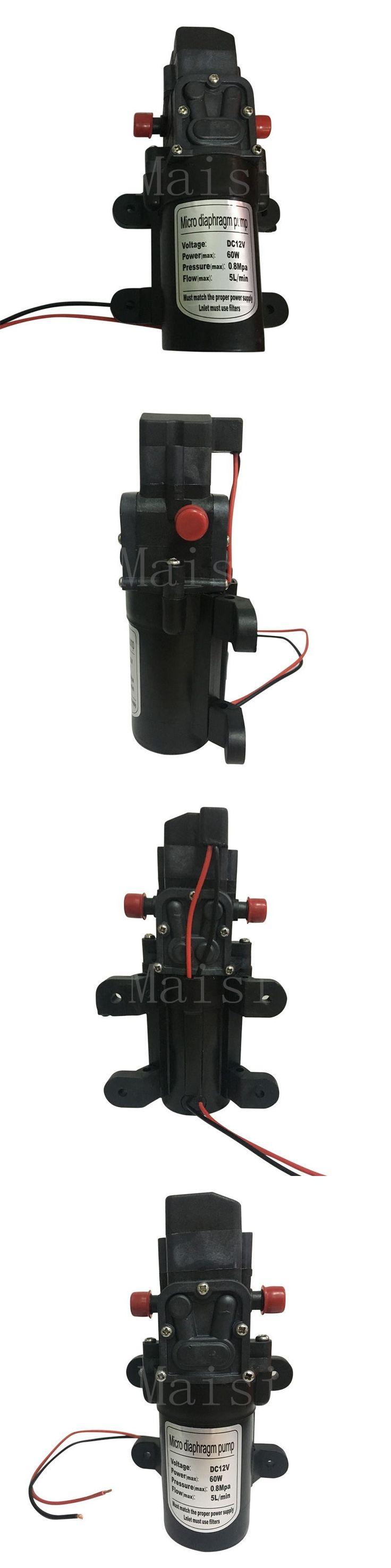 Maisi High Pressure 12v Water Pump 1 pc 60w Micro Circulation Micro Diaphragm Pump Automatic Switch Mini Electric Water Pump.