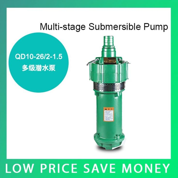 120.00$  Know more  - 3m3/h Electric Water Pump Irrigation Pump 220V 1.1kw Submersible Deep Water Pump