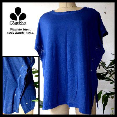 Camiseta femeinan con broches laterales, nada más cómodo y sencillo de usar. Cero dolor. Encuentra más en www.costubiva.com