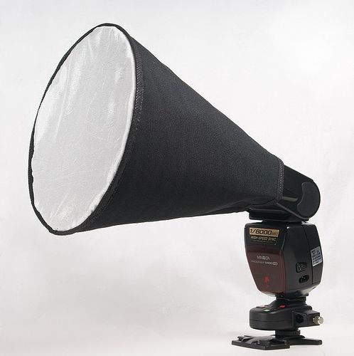 Cone Softbox for your Speedlight