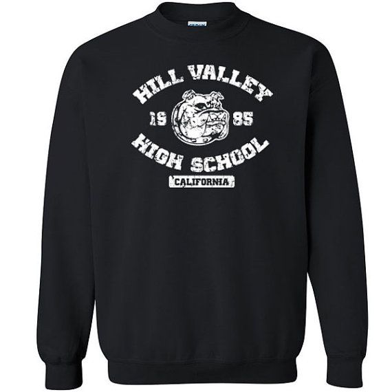 Hill Valley High School bulldog Unisex Sweatshirt //Price: $27.49 //     #specialtees