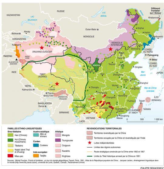 Chine : une mosaïque d'ethnies, par Philippe Rekacewicz (Le Monde diplomatique, avril 2008)