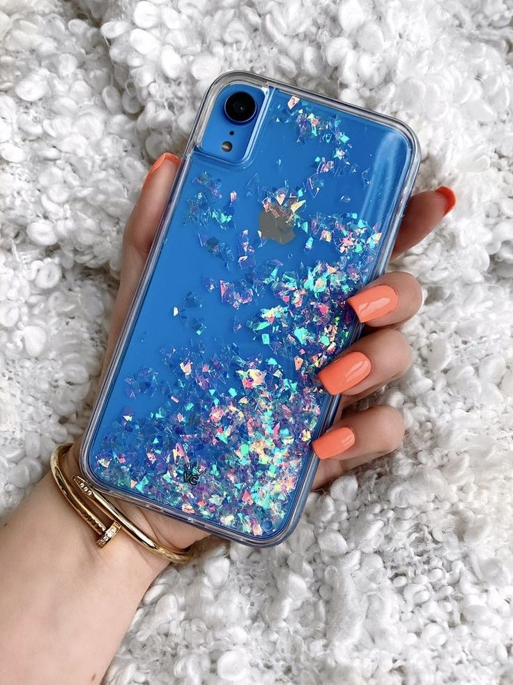 Holographic flakes iphone xr blue in 2020 iphone phone