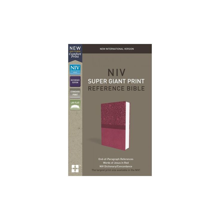 Holy Bible : New International Version, Super Giant Print Reference Bible, Pink, Red Letter Edition,
