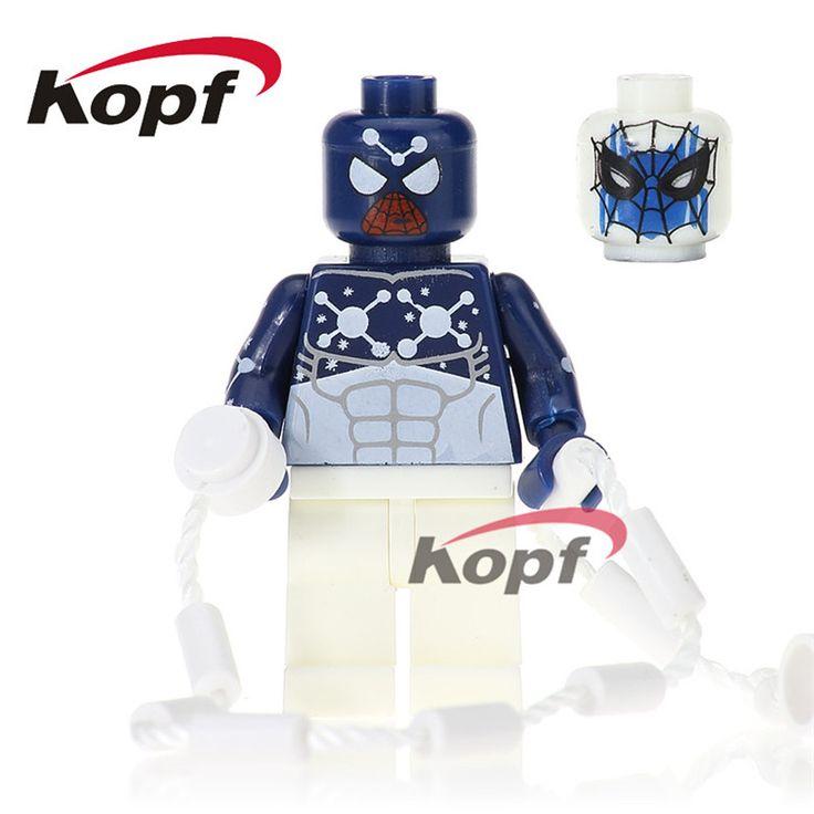 20Pcs Super Heroes Captain Spider-Man Nightwing Bulldozer Yellow Body Printed Legs Building Blocks Best Children Gift Toys PG214 #Affiliate