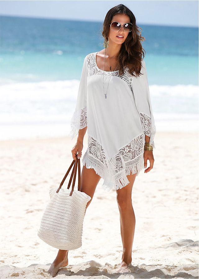 Sukienka plażowa W dekolcie i dole • 99.99 zł • bonprix