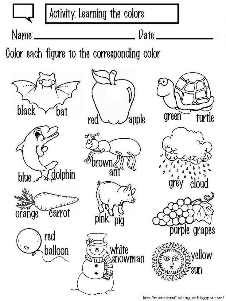 los colores en ingles para niños de primaria - Buscar con Google