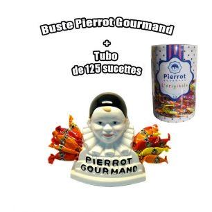 Sucettes Pierrot Gourmand + Buste Pierrot gourmand