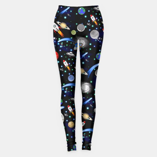Galaxy Universe Leggings  Colorful Womens Leggings by #Gravityx9 at #LiveHeroes