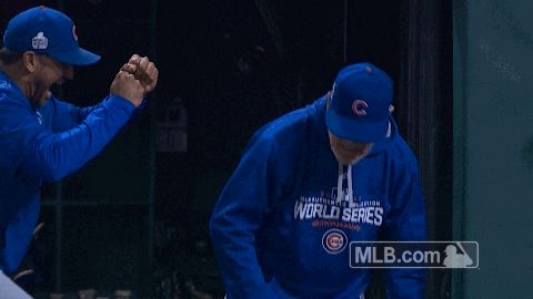 mlb baseball celebration champions cubs chicago cubs world series cubbies 2016 world series game 7 cubs win the world series trending #GIF on #Giphy via #IFTTT http://gph.is/2efNZBS