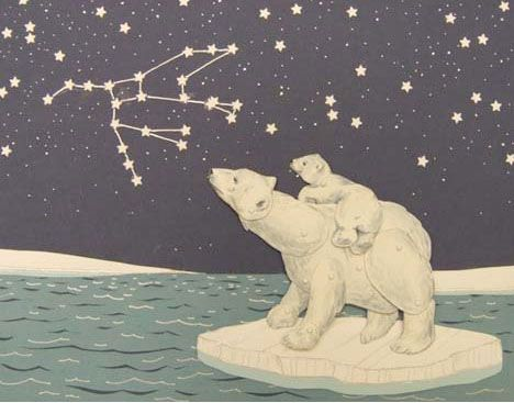 bearsUrsa Major Constellations, Tattoo Ideas, Darling Art, Ursa Major Tattoo, Polar Bears, Paper Dolls, Illustration, A Tattoo, Book Paper
