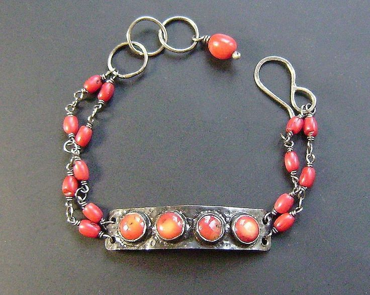 Czerwone Korale w artkatalina -  biżuteria artystyczna na DaWanda.com