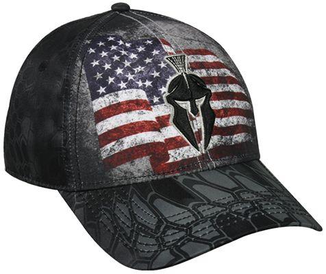 OUTDOOR CAP COMPANY INC Kryptek USA Flag Typhon Black Hat, EA