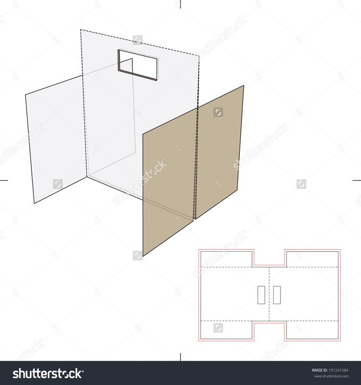 Divider Stand With Die Cut Layout Stock Vector Illustration 191241584 : Shutterstock