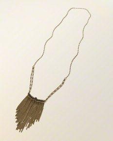 Fringe Beaded Chain Necklace