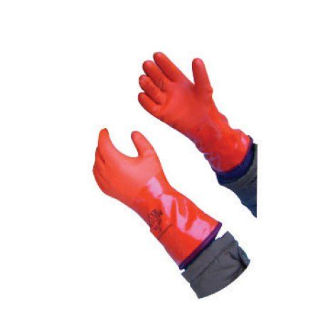 Showa Best Glove Size 9 Orange Showa Atlas Vinylove 460 Coated Work Gloves With PVC coatng And Rough Finish And Acrylic Lining