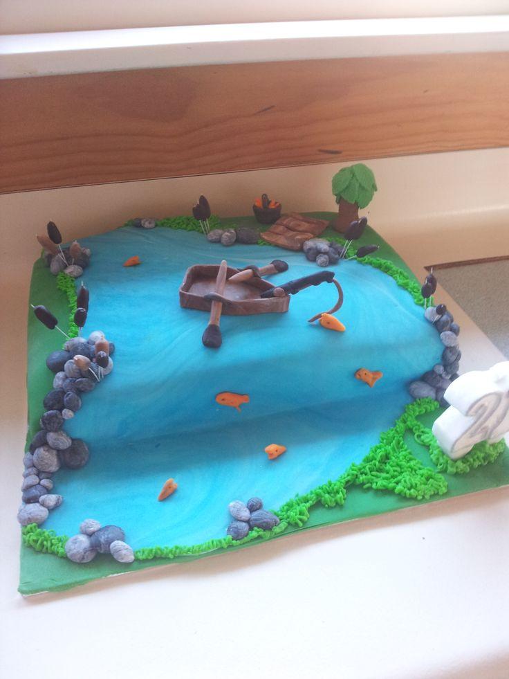 Fishing 21st Cake