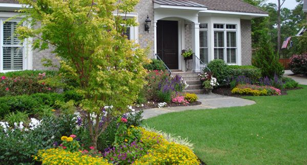Landscape plans for residential gardens google search for Residential landscaping ideas