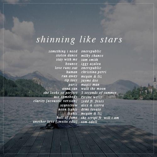 shinning like stars