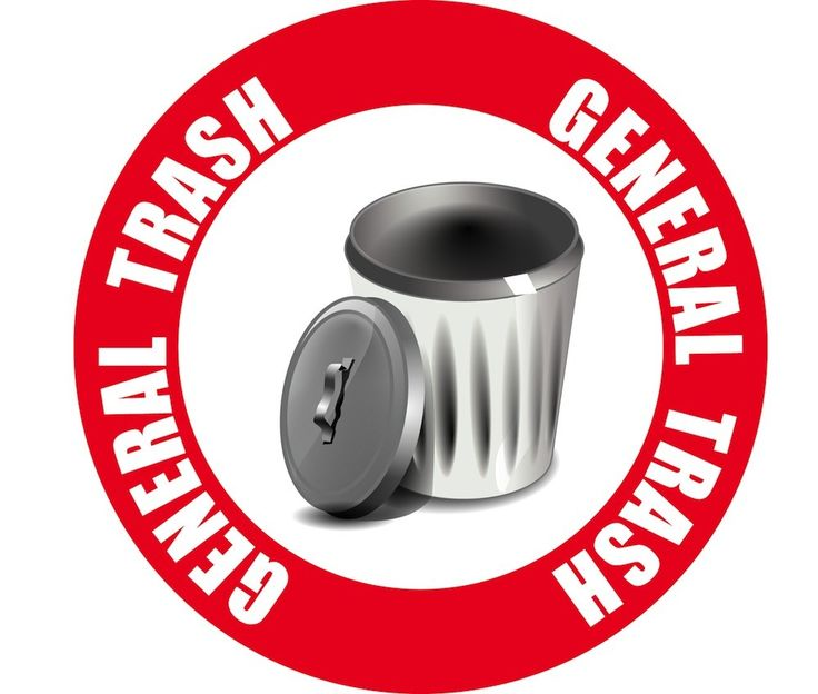 Creative Safety Supply General Trash Sign, 15.00 (http